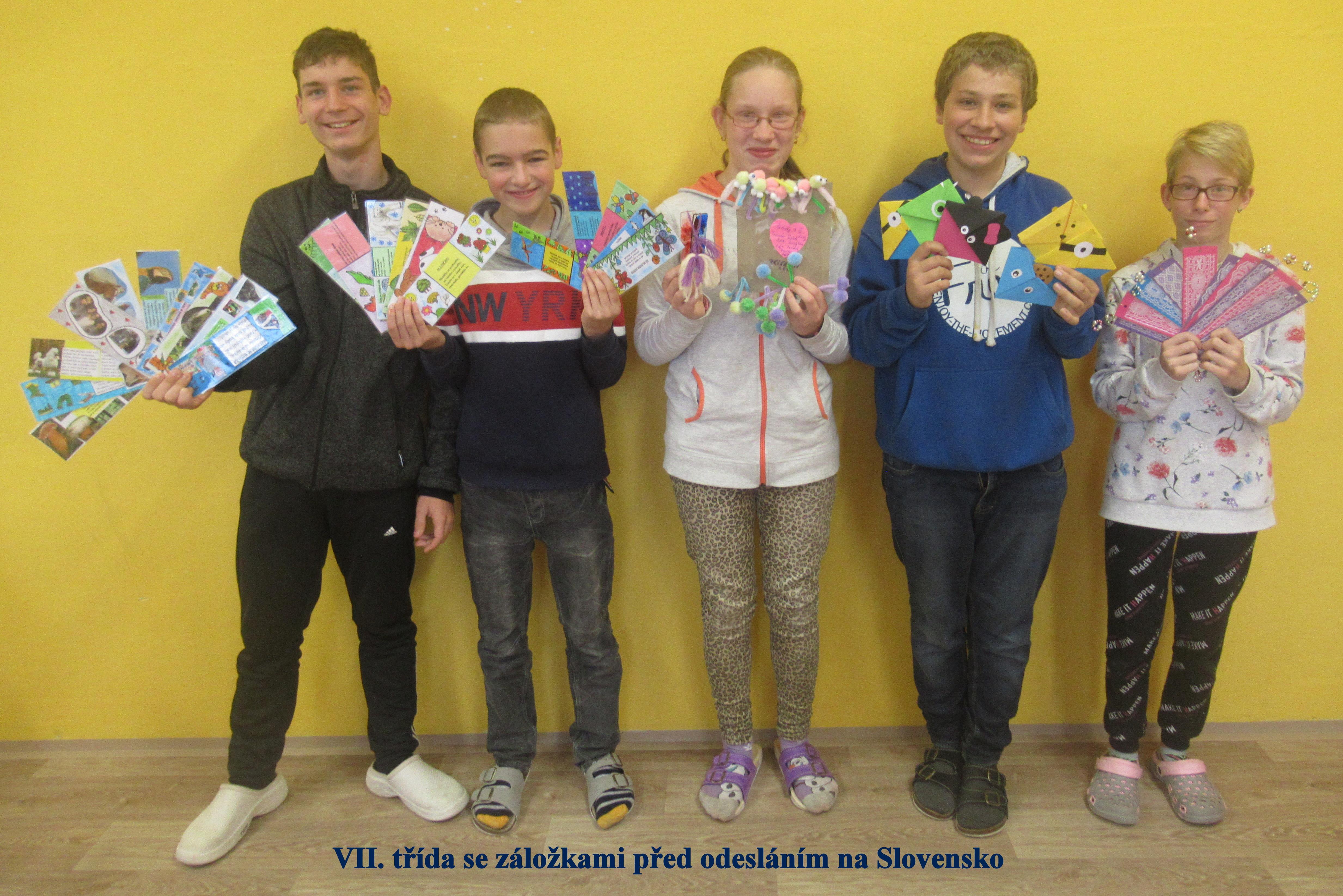 3) VII. třída se záložkami na Slovensko